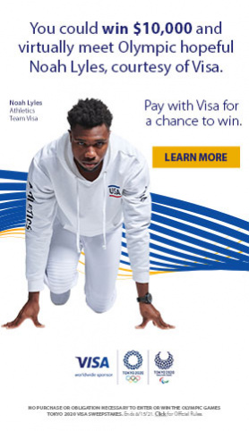 You could win $10,000 and virtually meet Olympic hopeful Noah Lyles, courtesy of Visa.